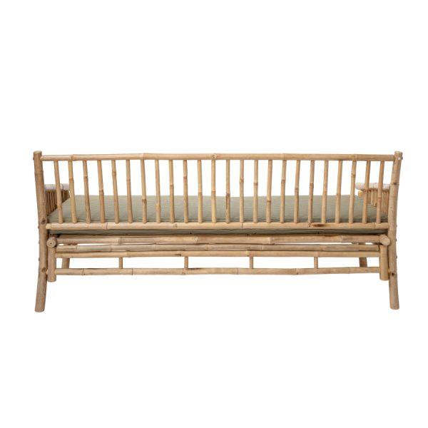 Utendørs Sole Sofa Natur og Bambus